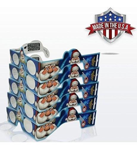 Imagen 1 de 3 de Gafas 3d De Navidad - Paquete De 5 - Convierta Las Luces Nav