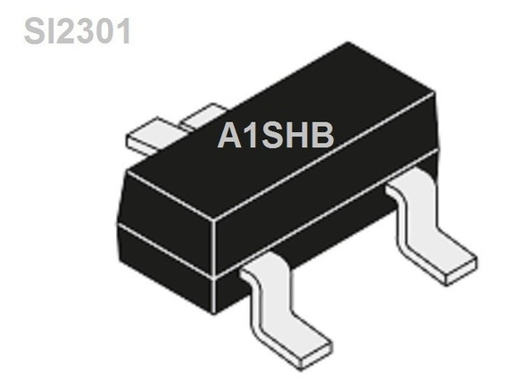 Transistor Mosfet Si2301 Aishb Smd Sot-23 130 Unidades