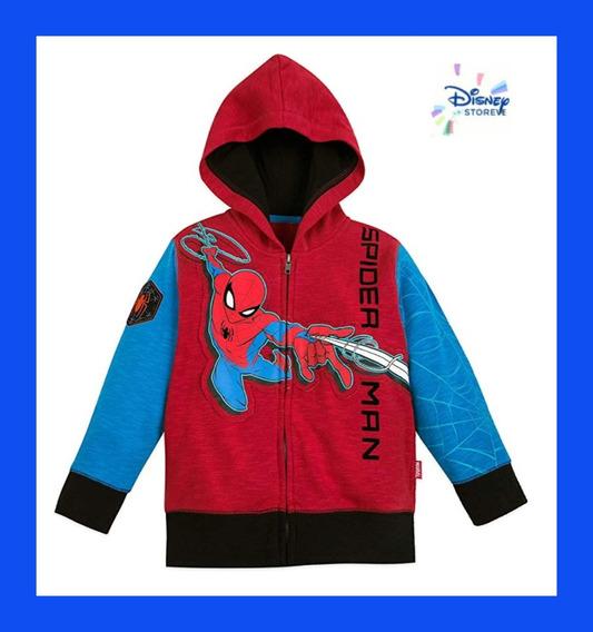 Sweter Con Capucha Para Niños Disney Spiderman Original