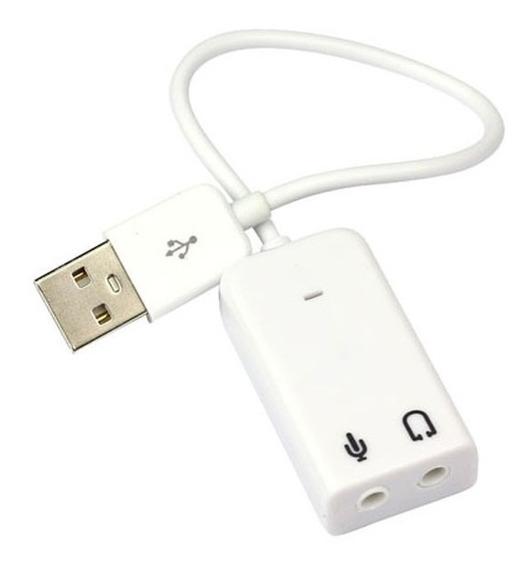 2 Placa De Som Usb / Adaptador Usb De Audio Virtual 7,1
