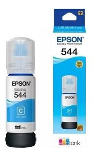 Botella Tinta Epson T544 Cian Original L3150 L3110 Mexx 3