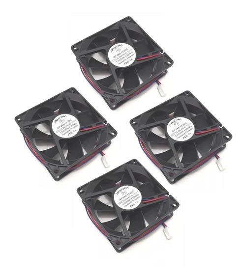 4 Coolers Nework 12v 80x80x25 Mm 5000 Rpm Cód 14.204 Hhe Nov
