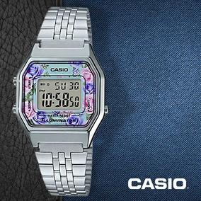 18811fe10301 Reloj Casio Retro La680 Dama Plata Flores  watchsalas  Full