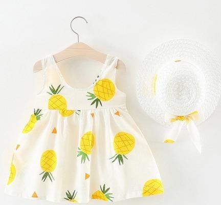 Vestido Verão Menina Chapéu Blogueirinha Instagram