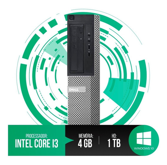 Pc Dell Optiplex Intel Core I3,4gb Ram Ddr3,hd 1tb Promoção