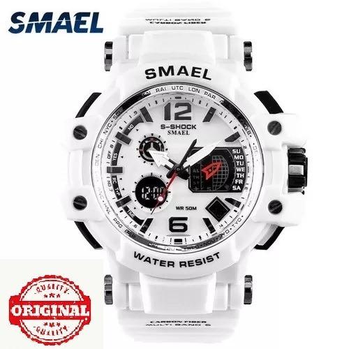 Relógio Smael Militar S Shock 1509 Branco + Brinde