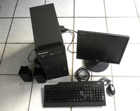 Ibm Thinkcentre Dual Core Com Monitor , Teclado, Mouse, Wifi