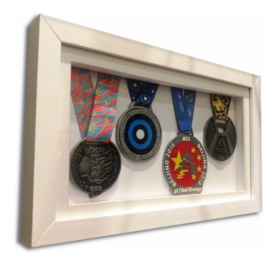 Quadro / Moldura Portamedalha - Box Único 4 Medalhas
