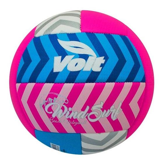 Balón De Voleyball Wind Surf No. 5 Rosa Pu 79634 Voit