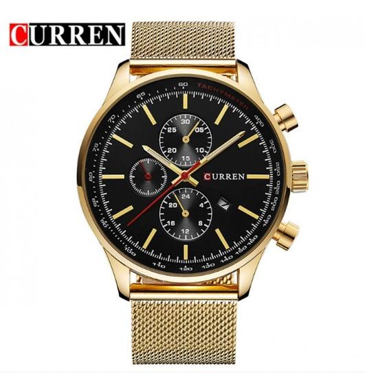Relógio Masculino Curren Novo Original Quartz Pulso Luxo Top