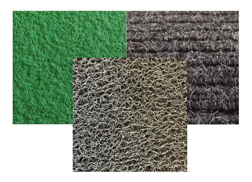 Kit Carpete: Canelado Grosso/feltro Verde/vazado 30x70cm