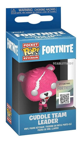 Funko Pop Llavero Fortnite Cuddle Team Leader Original