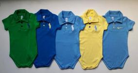 Body Infantil Menino Gola Polo 2 Unidade Tudo Para Seu Bebê