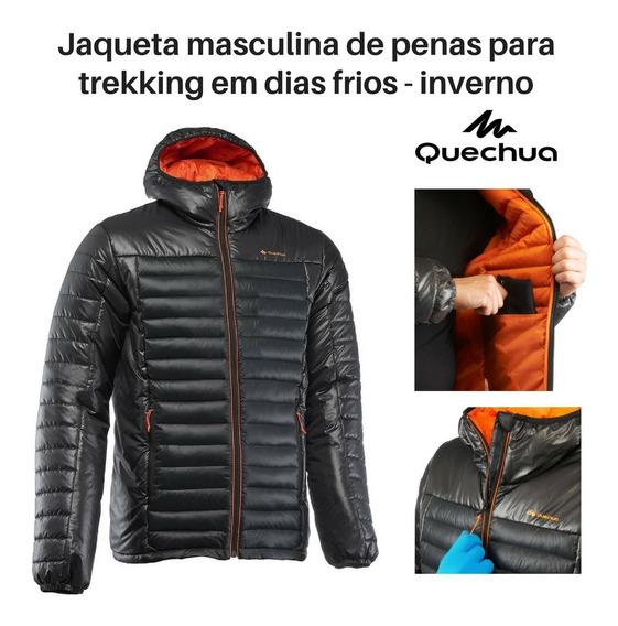 Jaqueta Masculina De Penas Para Trekking Quente Leve Inverno