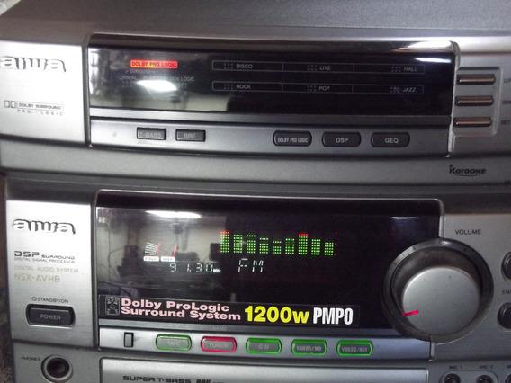 Sistem Aiwa Rx-navh8he 5.1 Com Am Fm Oc Banda Corrida Japao