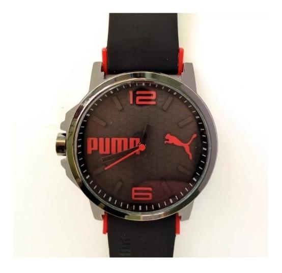 Reloj De Hombre Puma Rojo Negro De Moda Estilo Simple