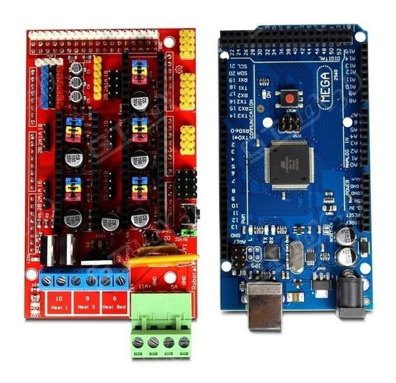 Kit Shield Ramps 1.4 + Arduino Mega 2560 - Pronta Entrega