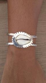 Bracelete Em Prata Com Buzios Natural
