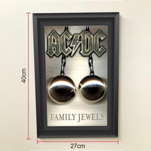 Quadro 40x27 Rock N Roll Ac/dc Family Jewels