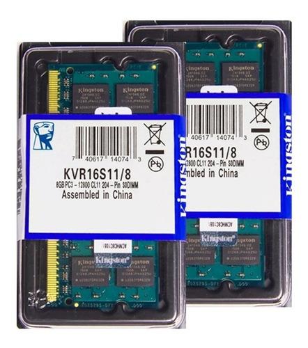 Memória Kingston Ddr3 8gb 1600 Mhz Notebook 16 Chips 1.5v