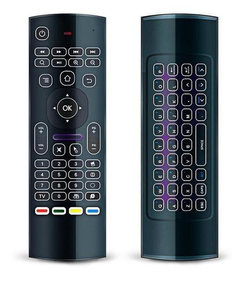 Controle Remoto Mouse E Teclado Wire Tv Pc Luminoso