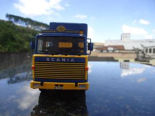 Miniatura De Carreta Scania Lbt 141 ´´asg´´ Escala 1;43