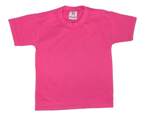 Camiseta Infantil Básica Para Estampar Lisa Manga Curta