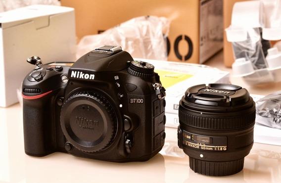 Nikon D7100 + Kit ( Bolsa Tripé Grip 18x105 64gb )