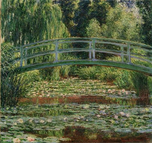 Poster Hd Claude Monet 65cmx70cm Ponte E Lago Com Nenúfares