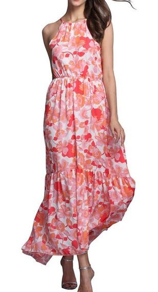 Falda De Vestido Largo Mujer Boho Maxi Floral Verano Playa