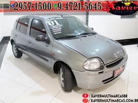 Renault Clio Rl 1.0 Cinza 2001 Financiamento Proprio 7047