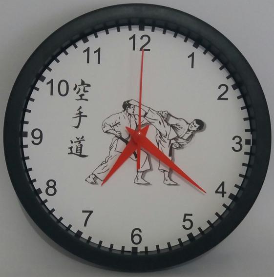 Karate Relógio De Parede - Karate - Clássico 24 Cm
