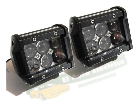 Par Faros Barras 6 Led 4d Cree 18w 2000lum Jeep 4x4 Lupa