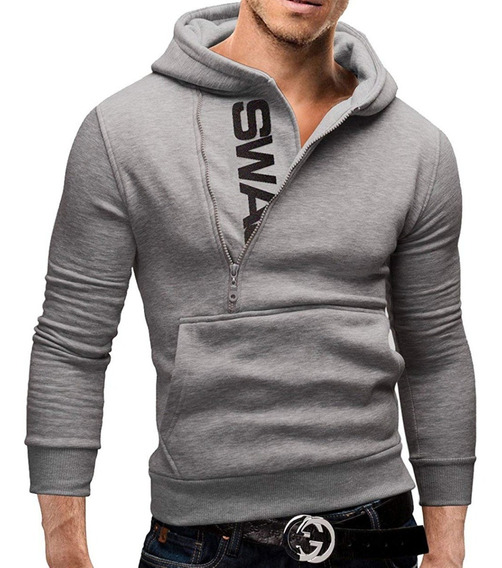 Casaco Masculino Blusa De Frio Moletom Moleton Slim + Frete
