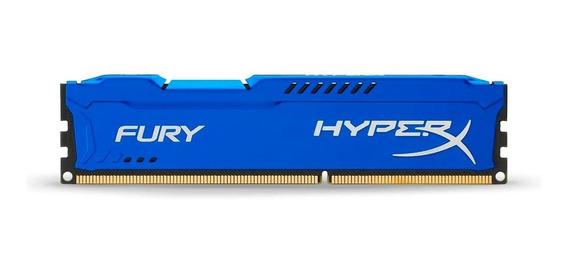 Memoria Ram Pc 4gb Kingston Hyperx Fury Ddr3 1866 Azul Pc