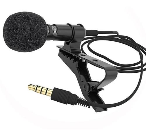 Micrófono De Solapa Lavalier 3,5mm Clip Omnidireccional Alta