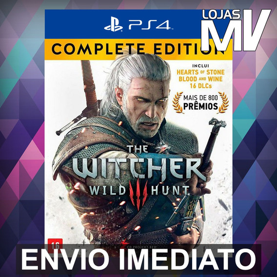 The Witcher 3: Wild Hunt Complete - Ps4 Código 12 Dígitos