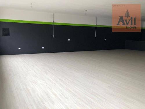 Salão Para Alugar, 313 M² Por R$ 8.800,00/mês - Jardim Etelvina - São Paulo/sp - Sl0084