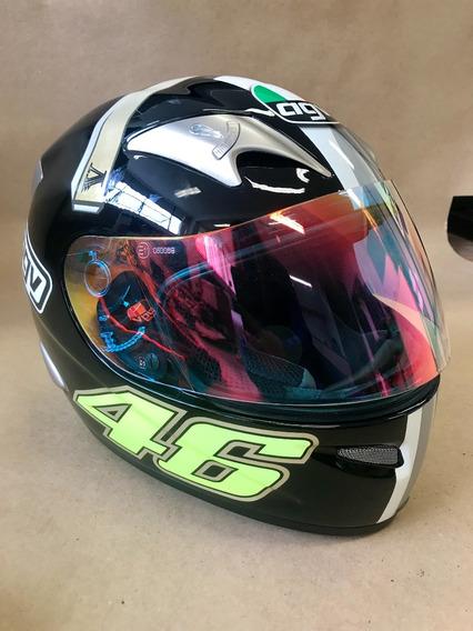 Capacete Moto Agv Gp Valentino Rossi Edição Limitada