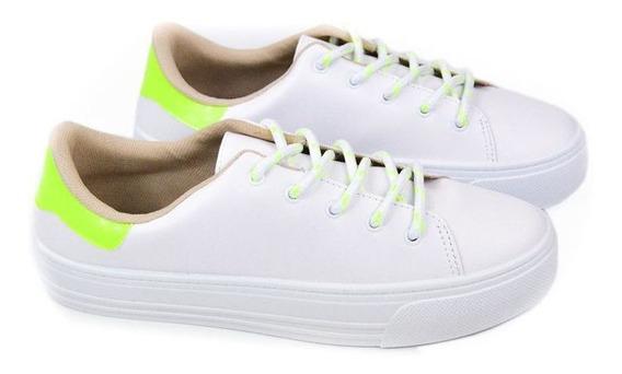 E Tenis Fem 4220.101 Branco Amarelo Neon Beira Rio 20806