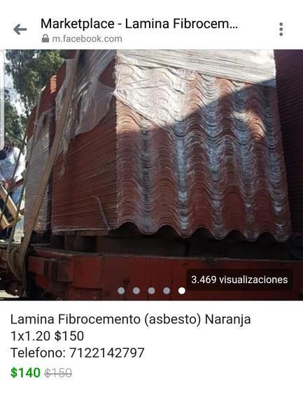 Lamina De Fibrocemento Naranja (asbesto) 1.00x1.20