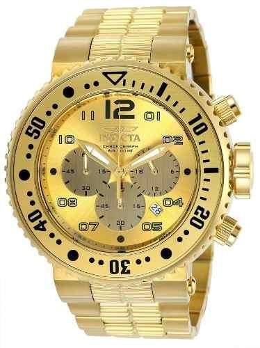 Relógio Invicta Pro Diver 25076 Masculino Banhado Ouro 18k