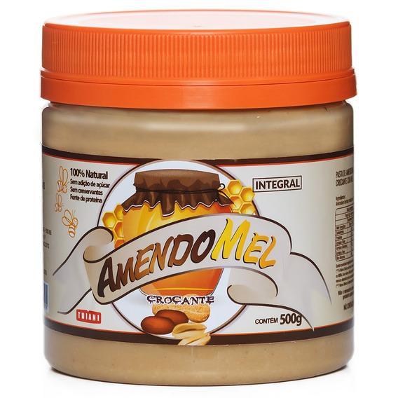 6 Pasta De Amendoim Amendomel 500g Crocante Sem Açúcar