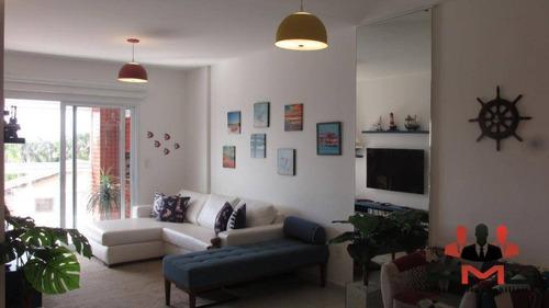 Apartamento Com 3 Dormitórios À Venda, 98 M² Por R$ 790.000,00 - Indaiá - Bertioga/sp - Ap2331
