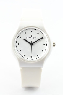 Reloj De Silicona Pineapple Honey Blanco Con Negro