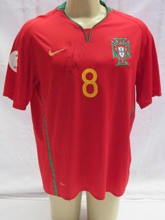 Camisa De Futebol De Portugal #8 Petit - Patch Euro 2008 Kk