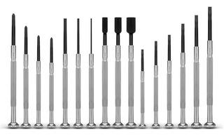 Set Kit Combo X 16 Destornilladores Precisión Relojero Full