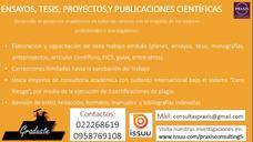 Asesoría Especializada En Planes Y Proyectos De Tesis