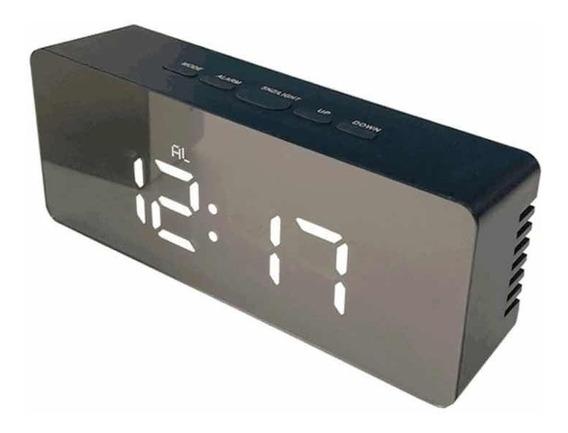 Reloj Alarma Y Temperatura Frente Espejo Y Liviano