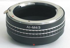 Anel Adaptador Lente Nikon F Ai-m4/3 M43 Olympus Panasonic